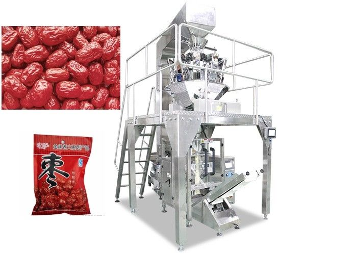 Multi Heads Snack Food Bagging Machine , CE Automatic Weighing And Packing Machine