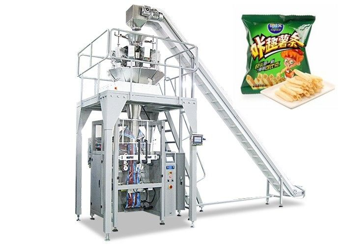 Automatic Food Packing Machine , Vertical Apple Chips Packing Machine